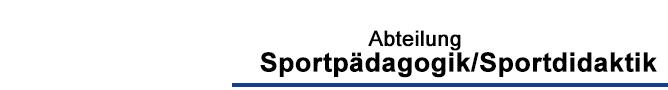 FB 02 - Sportpaedagogik/Sportdidaktik